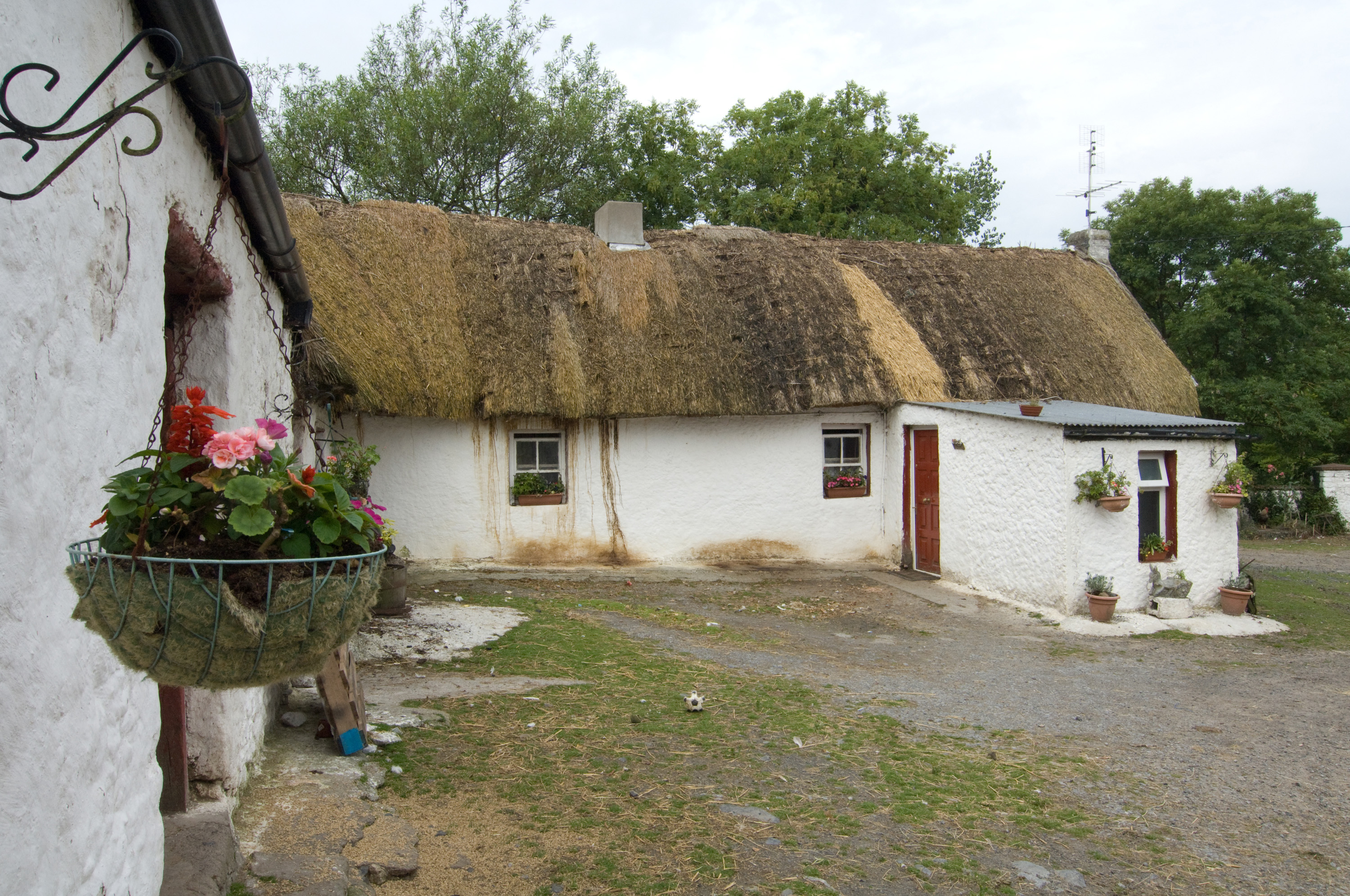 Thatched house in traditional farmyard, the Heath, Laois (Photo James Fraher)