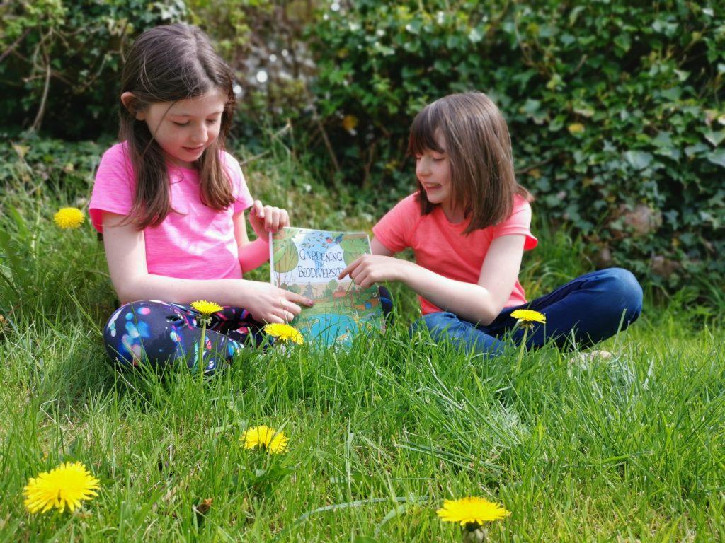Children enjoying Garden wildlife